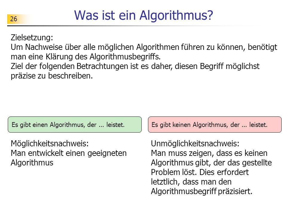 26 Was ist ein Algorithmus.