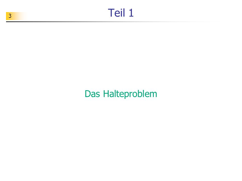 14 Aufgabe Wie würde sich dieses seltsame Programm bei der Analyse von Quelltexten / seines eigenen Quelltextes verhalten.