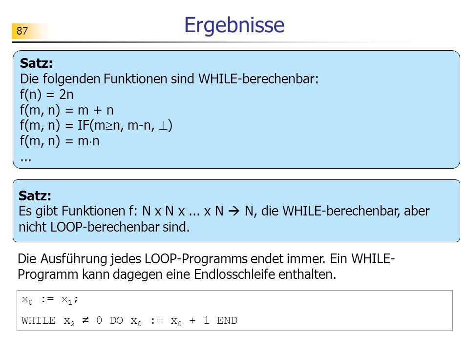 87 Ergebnisse Satz: Es gibt Funktionen f: N x N x...