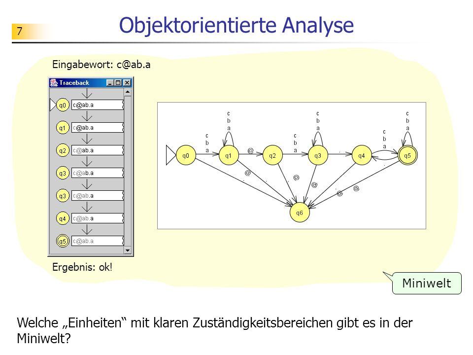 28 Aufgabe Schauen Sie sich eine XML- Darstellung eines Automaten mit einem neueren Browser an.