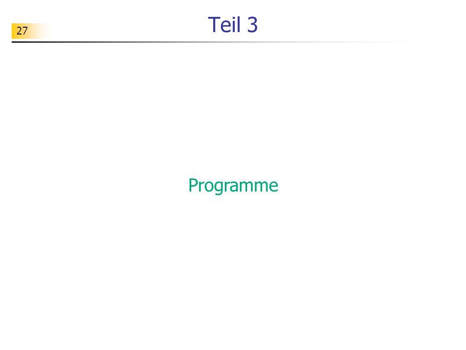 27 Teil 3 Programme