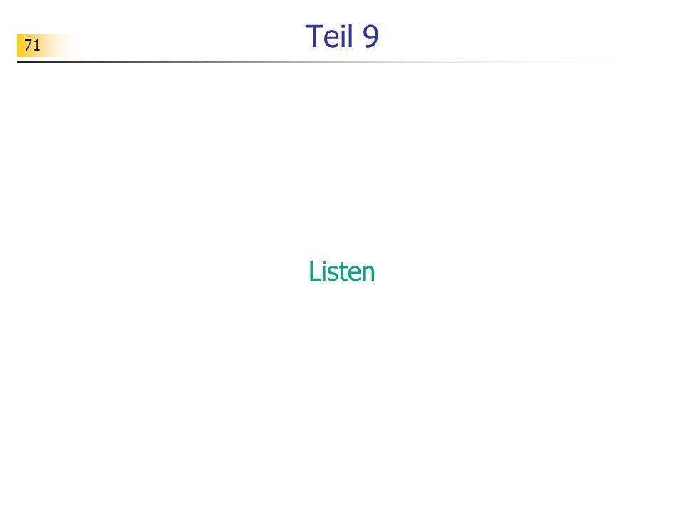 71 Teil 9 Listen