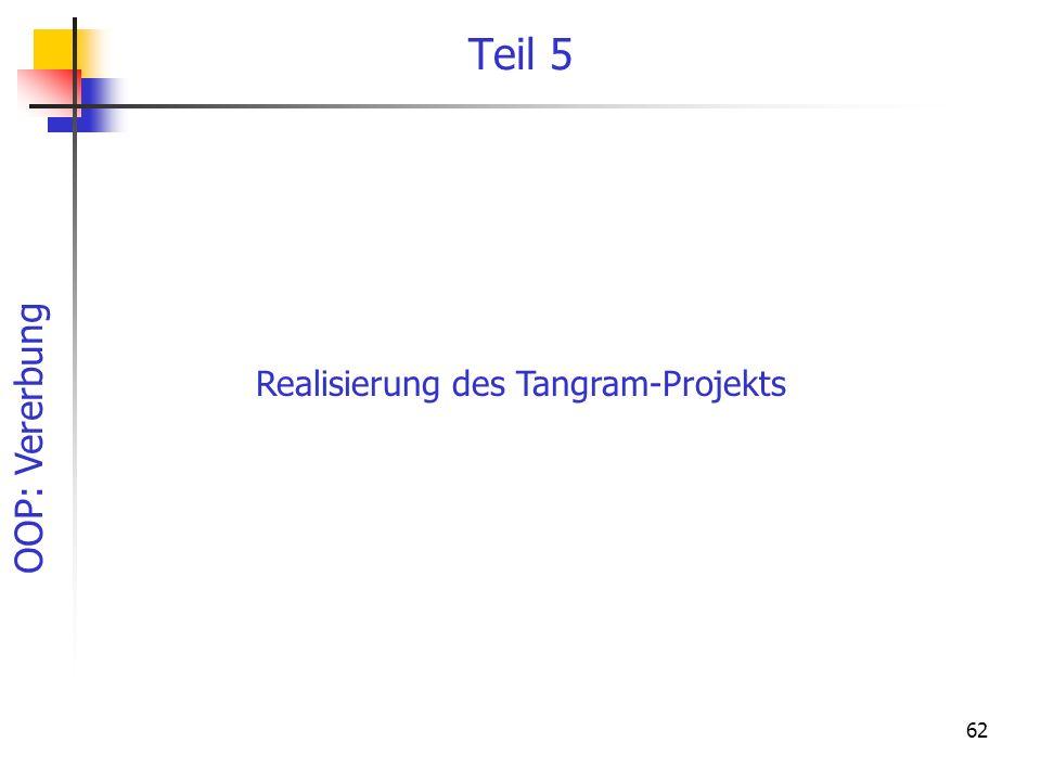 OOP: Vererbung 62 Teil 5 Realisierung des Tangram-Projekts