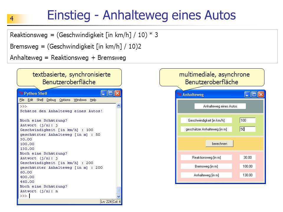 55 Exkurs - PythonCard PythonCard ist ein Werkzeug zur Entwicklung grafischer Benutzeroberflächen für Python- Programme.