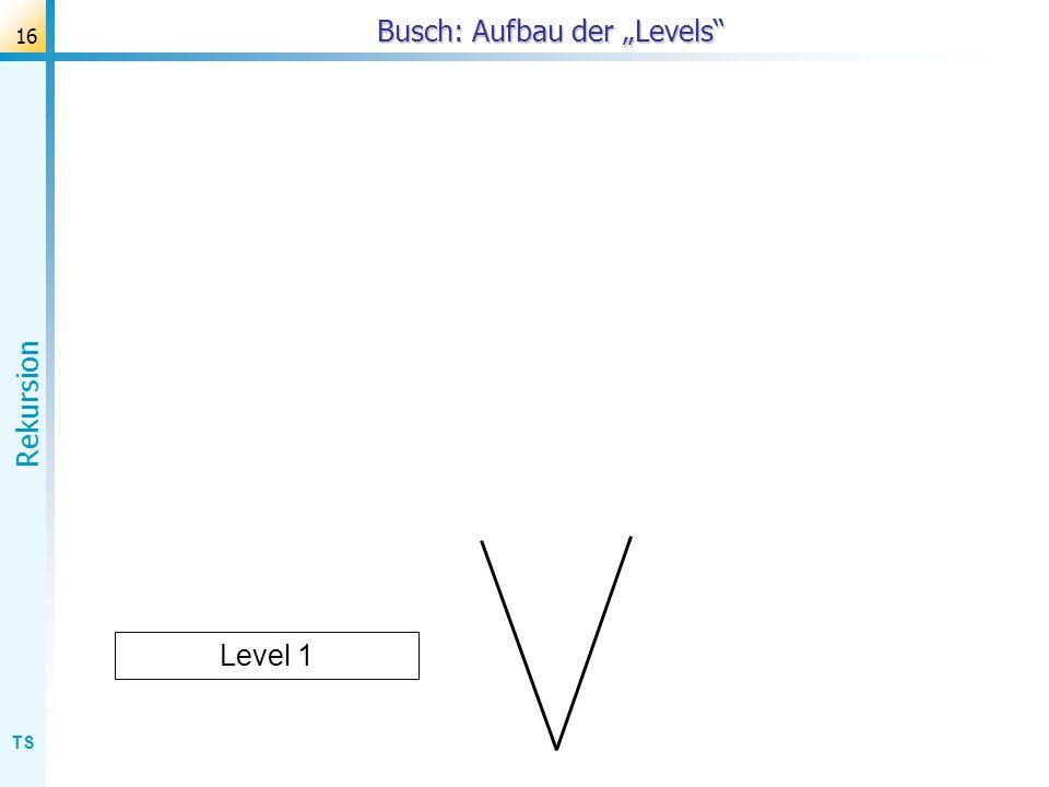 TS Rekursion 16 Busch: Aufbau der Levels Level 1