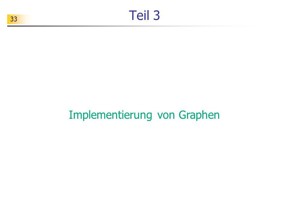 33 Teil 3 Implementierung von Graphen