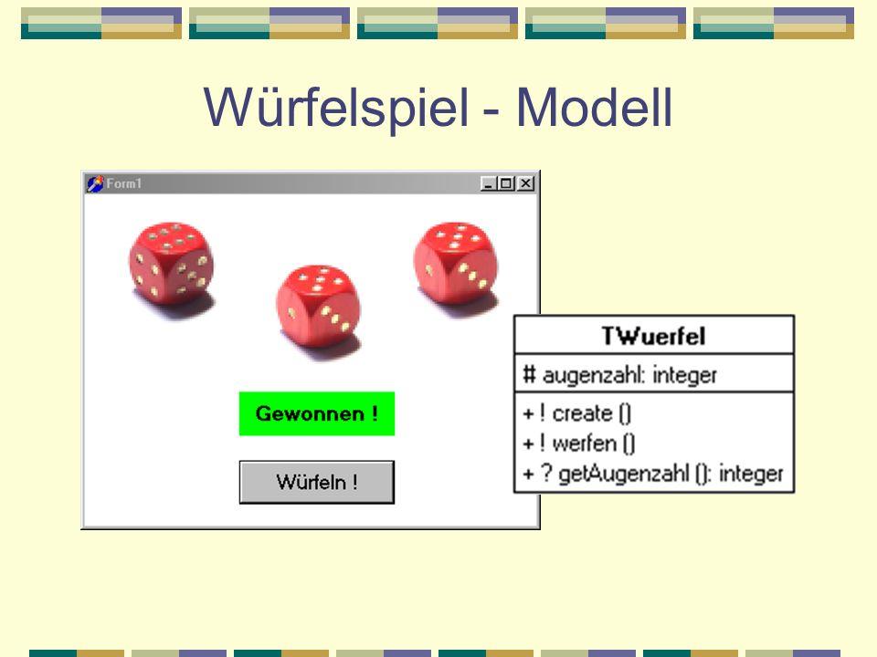 Würfelspiel - Modell