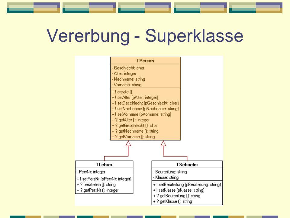 Vererbung - Superklasse