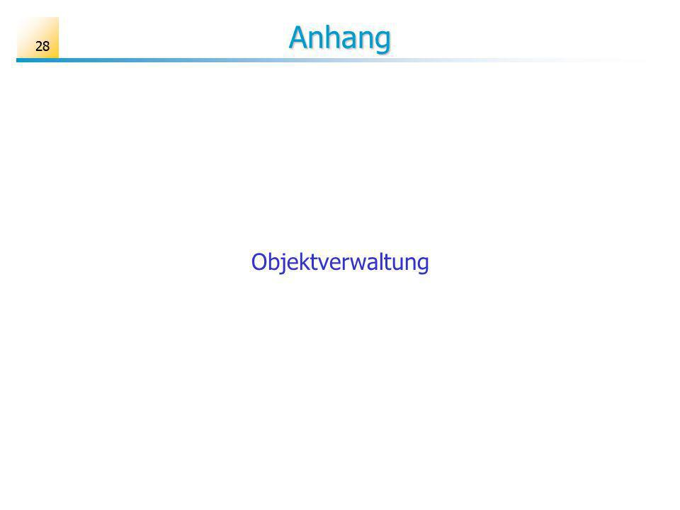 28 Anhang Objektverwaltung