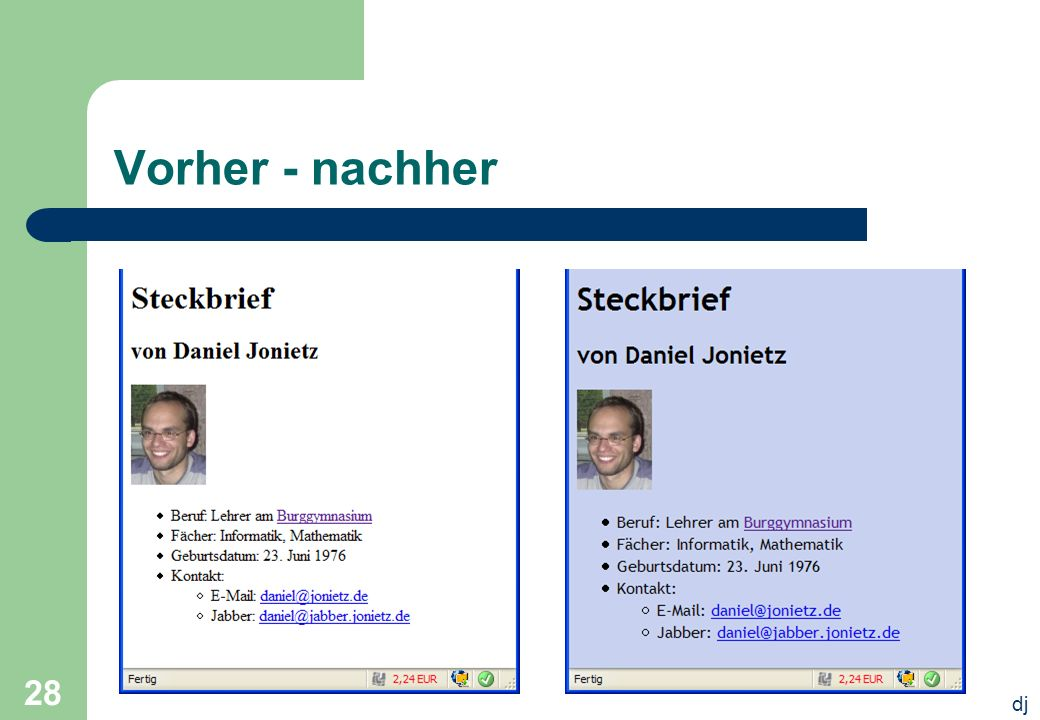 dj 28 Vorher - nachher