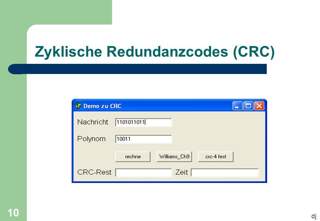 dj 10 Zyklische Redundanzcodes (CRC)