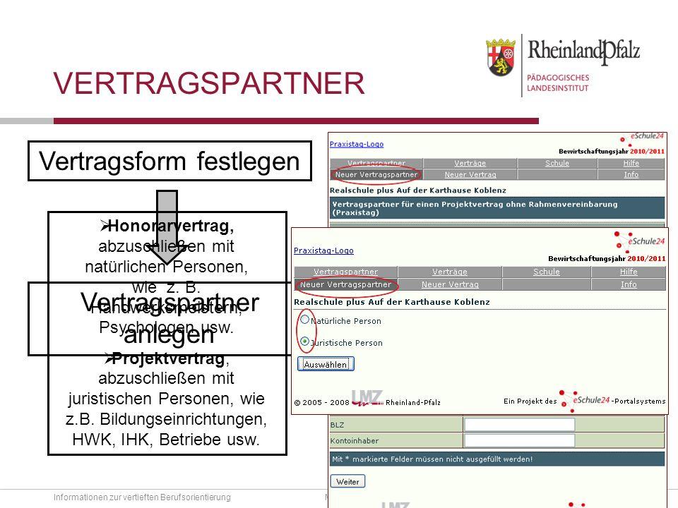 Folie 11 Informationen zur vertieften BerufsorientierungMBWJK - Mainz, 23.11.2010 Hauptnavigation Downloads Telefonsupport Aktuelles Weitere tel.