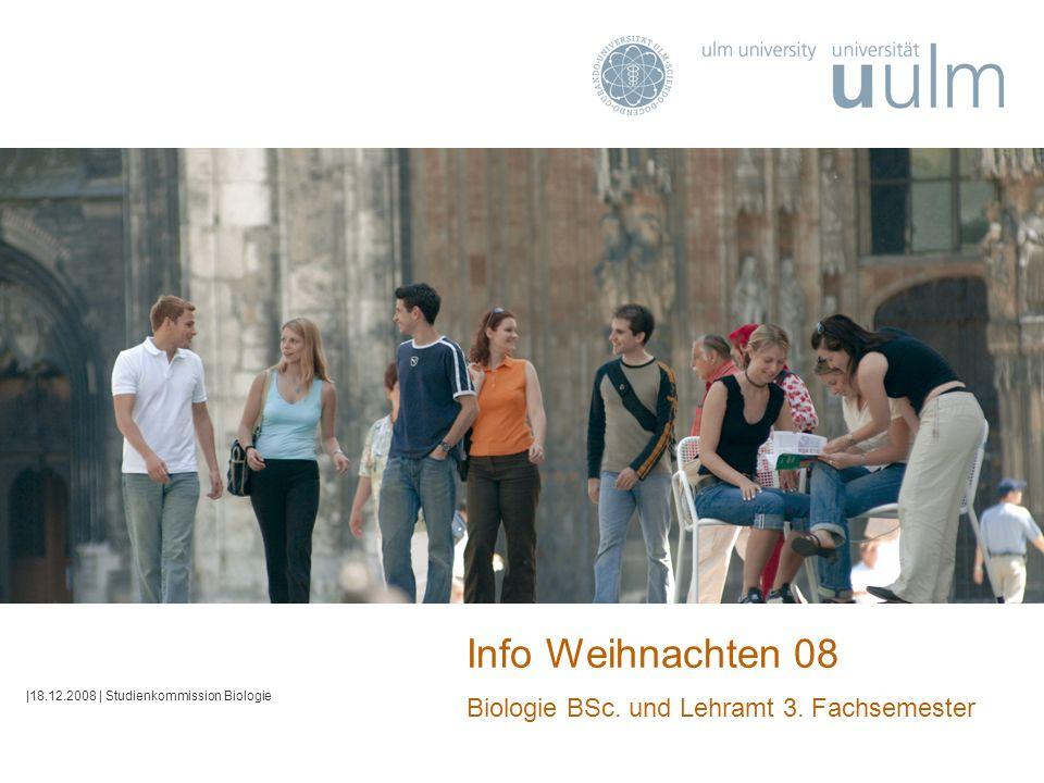 Info Weihnachten 08 Biologie BSc. und Lehramt 3. Fachsemester |18.12.2008 | Studienkommission Biologie