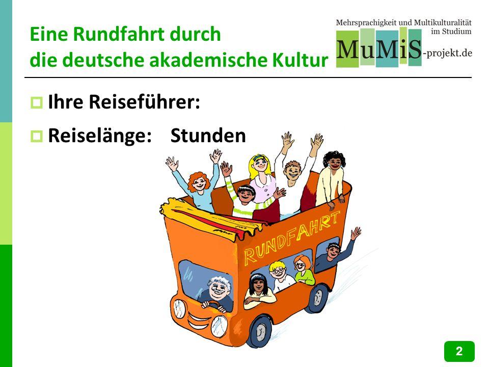Diskussion: Was Sie noch tun können… Hilfreiche Formulierungen: http://www.mumis-unicomm.de/?sprache=de (Beteiligung in Lehrveranstaltungen) http://www.mumis-unicomm.de/?sprache=de Mehlhorn 2005 (CD-Rom, Beteiligung in Lehrveranstaltungen) 23
