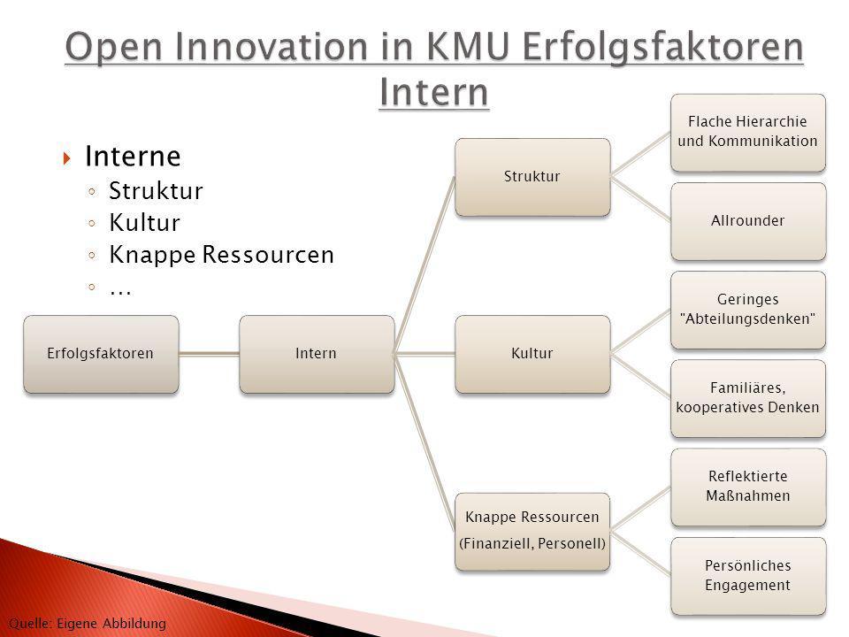 ErfolgsfaktorenInternStruktur Flache Hierarchie und Kommunikation AllrounderKultur Geringes