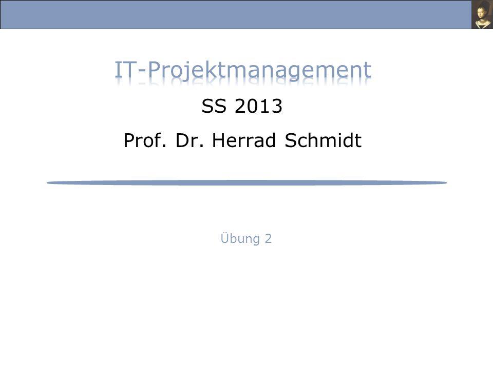 IT-Projektmanagement, Übung im Sommersemester 2013 Prof.
