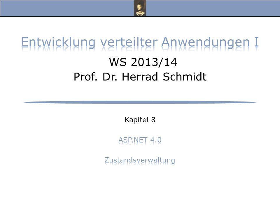 Entwicklung verteilter Anwendungen I, WS 13/14 Prof.