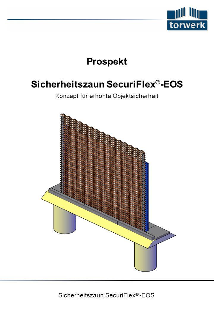 Sicherheitszaun SecuriFlex ® -EOS Prospekt Sicherheitszaun SecuriFlex ® -EOS Konzept für erhöhte Objektsicherheit