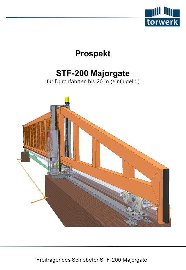 Freitragendes Schiebetor STF-200 Majorgate Prospekt STF-200 Majorgate für Durchfahrten bis 20 m (einflügelig)