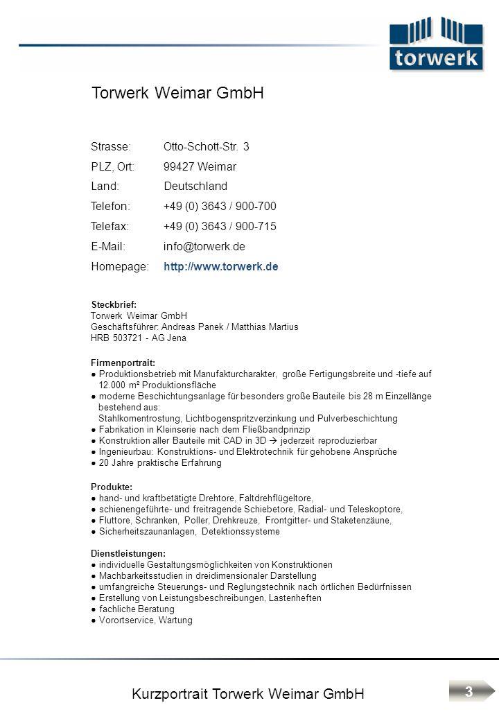 Herstellererklärung 34 EN 12453:2005 Nutzungssicherheit kraftbetätigter Tore, Anforderungen EN 12445:2005 Nutzungssicherheit kraftbetätigter Tore, Prüfverfahren EN 12604:2005 Tore – mechanische Aspekte, Anforderungen EN 12605:2005 Tore – mechanische Aspekte, Prüfverfahren EN 13241-1:2011 Tore – Produktnorm Weimar, 2013 Matthias Martius, Geschäftsführer Für die Konformität im Fall der Montage und Inbetriebnahme kommen folgende Normen zur Anwendung: EN 12635:2009 Tore – Einbau und Nutzung EN 12978/A1:2009 Schutzeinrichtungen für kraftbetätigte Türen und Tore – Anforderungen und Prüfverfahren Das diese Normen Ihre Anwendung gefunden haben erklärt hiermit die Firma: ________________________________ ________________________________ Ort, Datum, Unterschrift (Firmenstempel) Angaben zum Unterzeichner