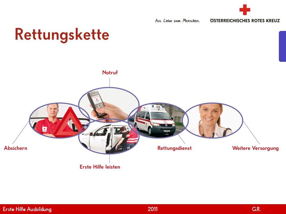 www.roteskreuz.at Version April | 2011 Rettungskette 7 Erste Hilfe Ausbildung 2011 G.R.