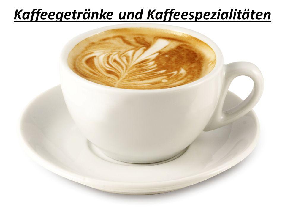 Kaffee, verkehrt: 1/3 Kaffee (Espresso), 2/3 Milch.