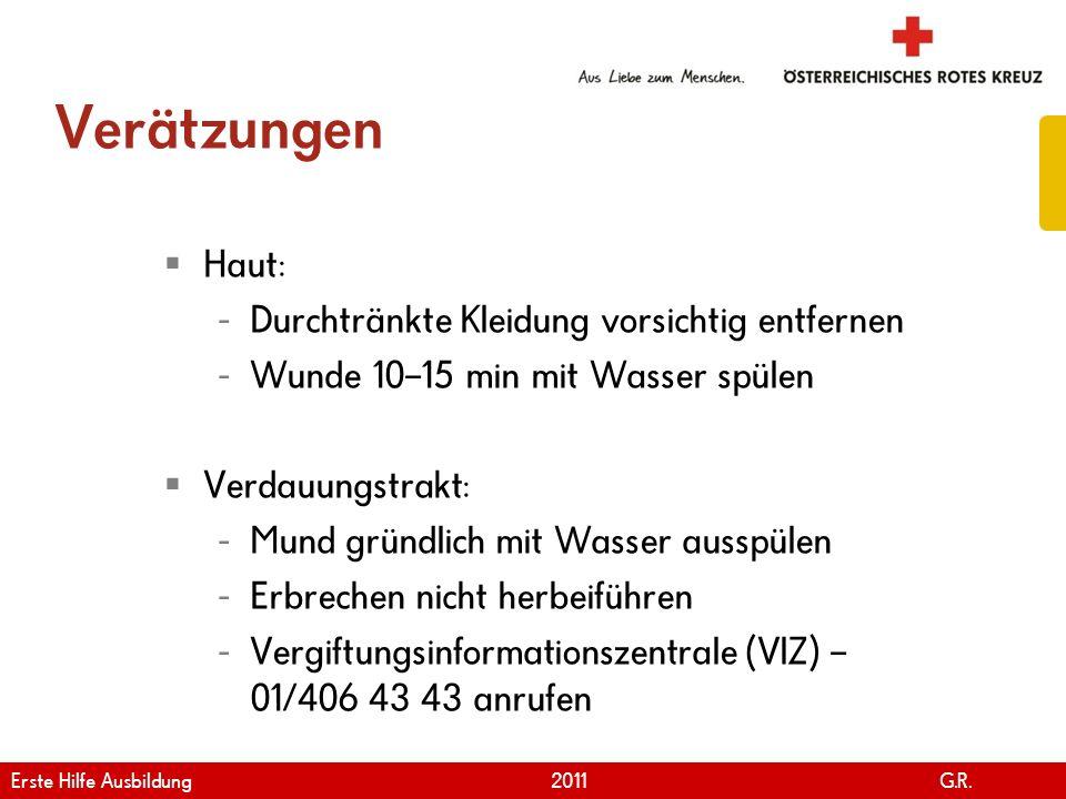 www.roteskreuz.at Version April   2011 KNOCHEN- UND GELENKSVERLETZUNGEN Erste Hilfe Ausbildung 2011 G.R.