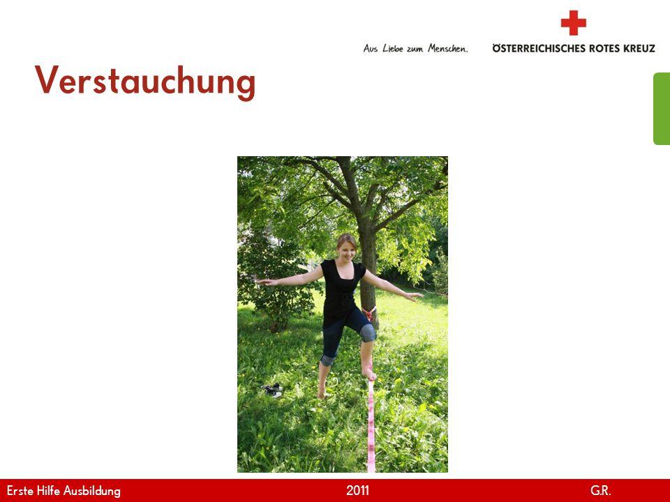 www.roteskreuz.at Version April | 2011 Verstauchung 110 Erste Hilfe Ausbildung 2011 G.R.