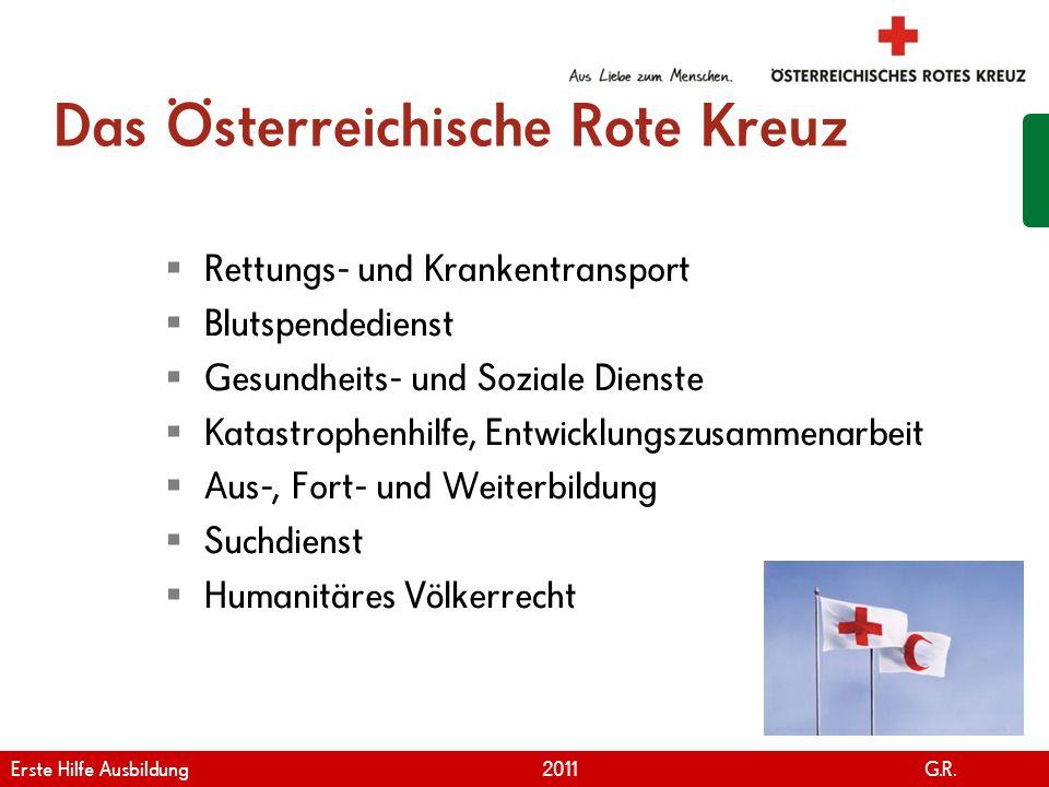 www.roteskreuz.at Version April | 2011 Das Österreichische Rote Kreuz Rettungs- und Krankentransport Blutspendedienst Gesundheits- und Soziale Dienste
