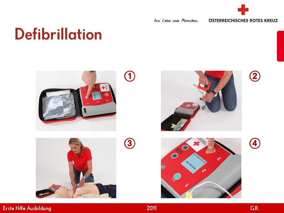www.roteskreuz.at Version April | 2011 Defibrillation 38 Erste Hilfe Ausbildung 2011 G.R.