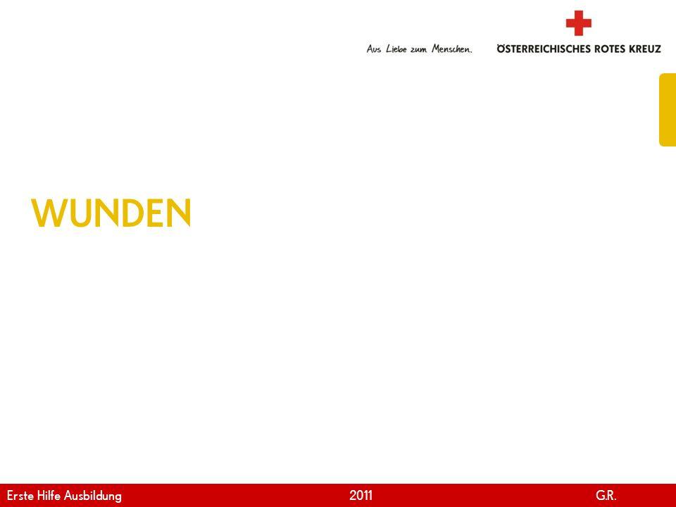 www.roteskreuz.at Version April   2011 KFZ-Verbandskasten laut ÖNORM V5101 77 Erste Hilfe Ausbildung 2011 G.R.