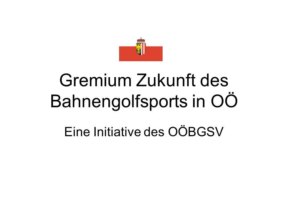 Gremium Zukunft des Bahnengolfsports in OÖ Eine Initiative des OÖBGSV