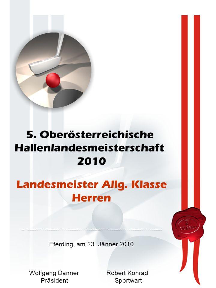 5. Oberösterreichische Hallenlandesmeisterschaft 2010 Landesmeister Allg.