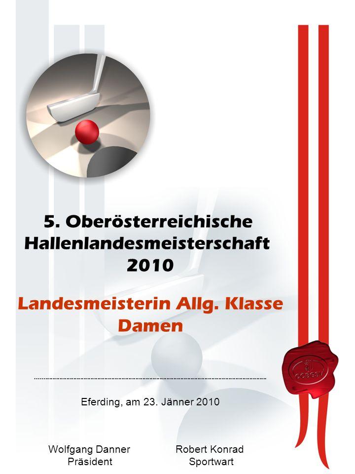 5. Oberösterreichische Hallenlandesmeisterschaft 2010 Landesmeisterin Allg.