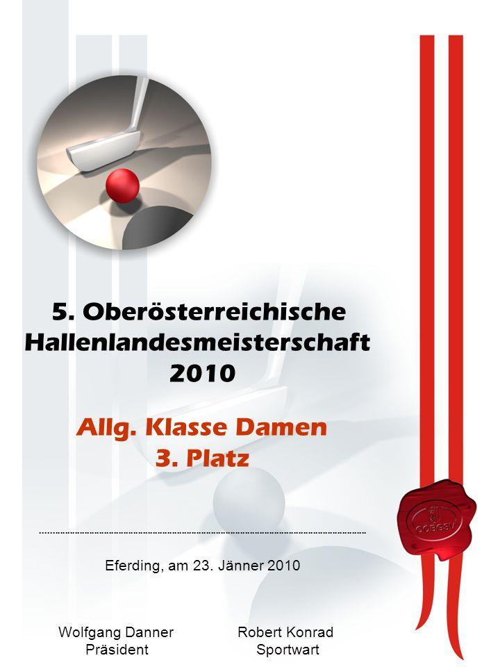 5. Oberösterreichische Hallenlandesmeisterschaft 2010 Allg.