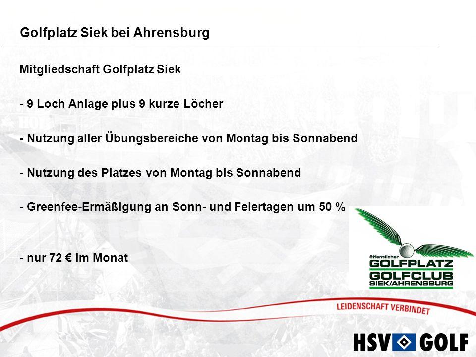 Golf-Club Sülfeld bei Bargteheide Mitgliedschaft Golf-Club Sülfeld - 36 Loch Anlage - Nutzung aller Übungsbereiche von Montag bis Sonnabend - Nutzung des Platzes von Montag bis Sonnabend - Greenfee-Ermäßigung an Sonn- und Feiertagen um 50 % - nur 72 im Monat