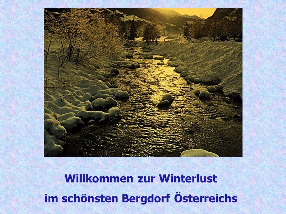 Willkommen zur Winterlust im schönsten Bergdorf Österreichs