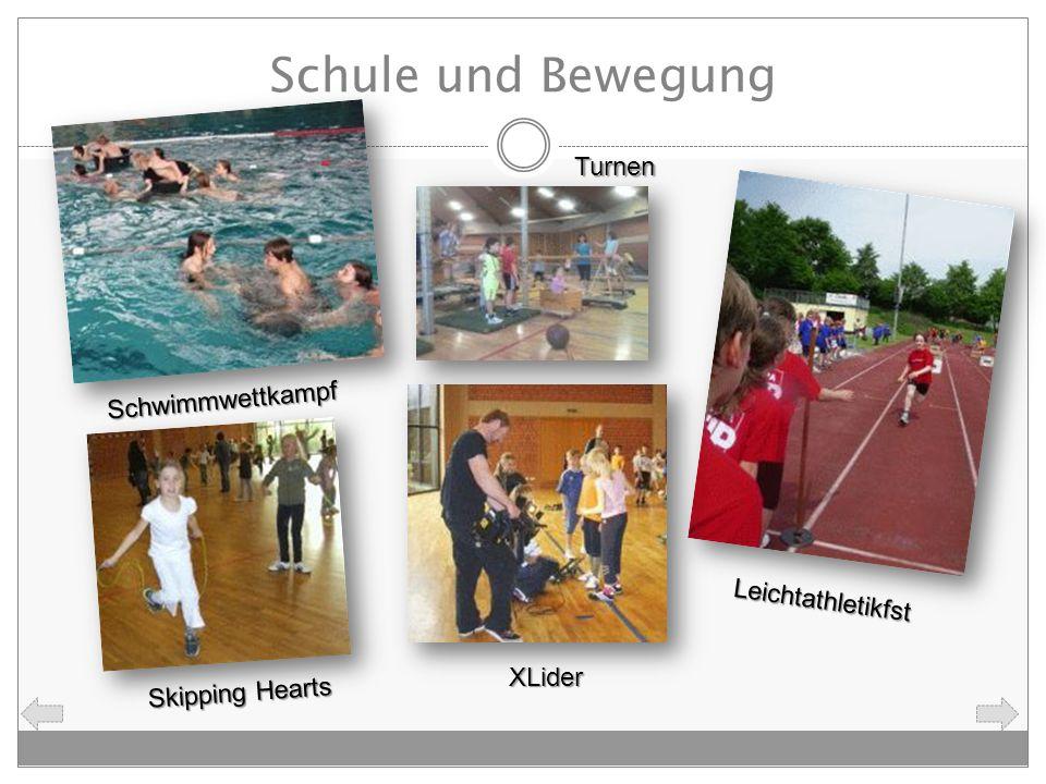 Schule und Bewegung Skipping Hearts Turnen Schwimmwettkampf Leichtathletikfst XLider