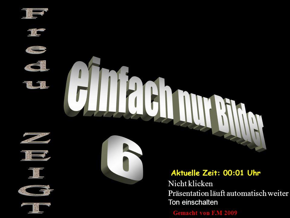 Aktuelle Zeit: 00:03 Uhr Nicht klicken Präsentation läuft automatisch weiter Ton einschalten Gemacht von F.M 2009