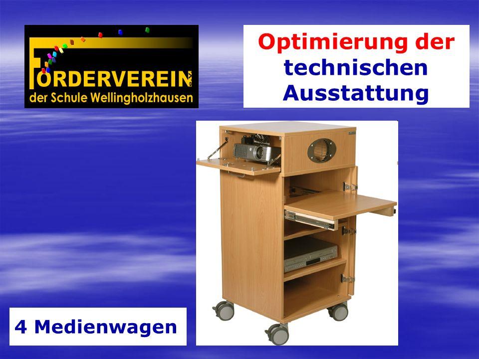 Optimierung der technischen Ausstattung 4 Medienwagen