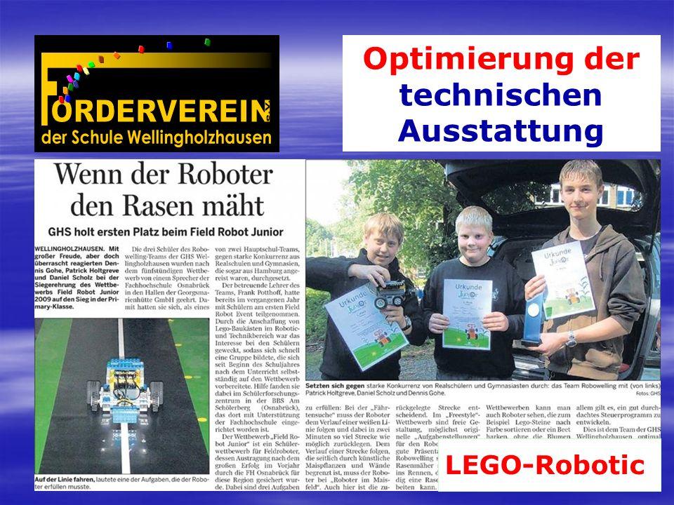 Optimierung der technischen Ausstattung LEGO-Robotic