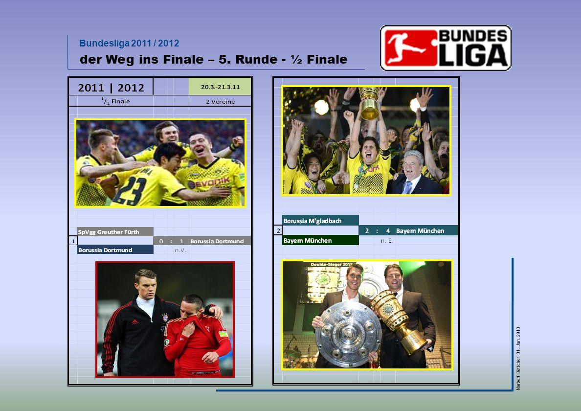Bundesliga 2011 / 2012 Norbert Böttcher 01. Jan. 2010 der Weg ins Finale – 5. Runde - ½ Finale