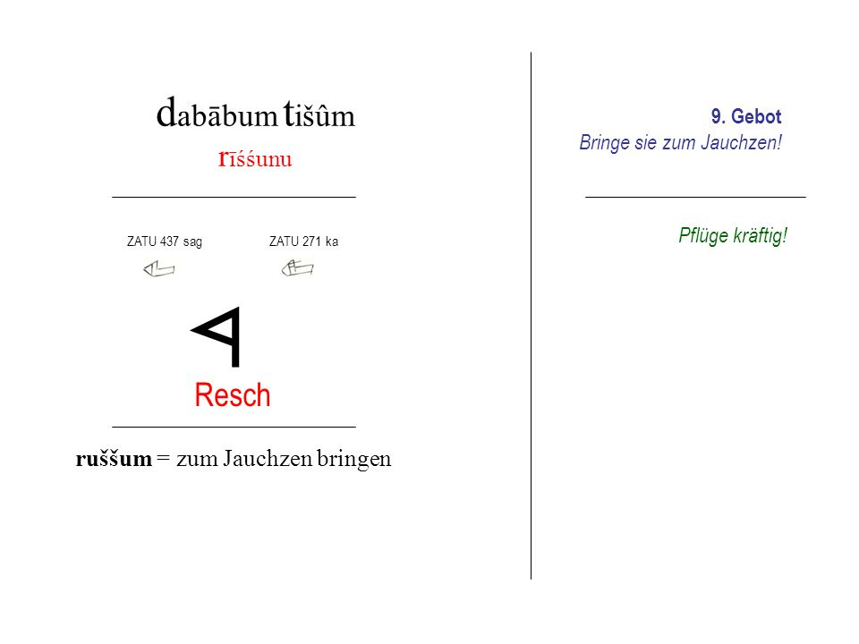d abābum e šrum s ūnušama tebe Sin Taw sūnum = Schoß tebûm = sich erheben 10.