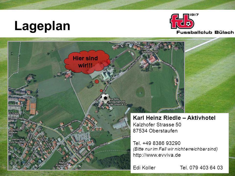 Lageplan Hier sind wir!!! Karl Heinz Riedle – Aktivhotel Kalzhofer Strasse 50 87534 Oberstaufen Tel. +49 8386 93290 (Bitte nur im Fall wir nicht errei