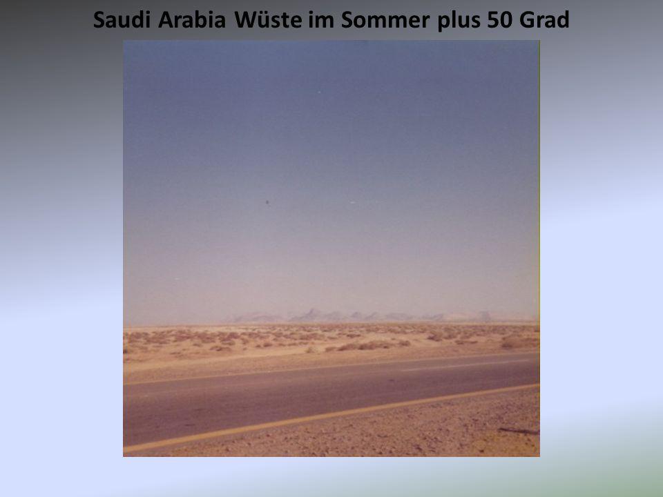 Saudi Arabia Wüste im Sommer plus 50 Grad