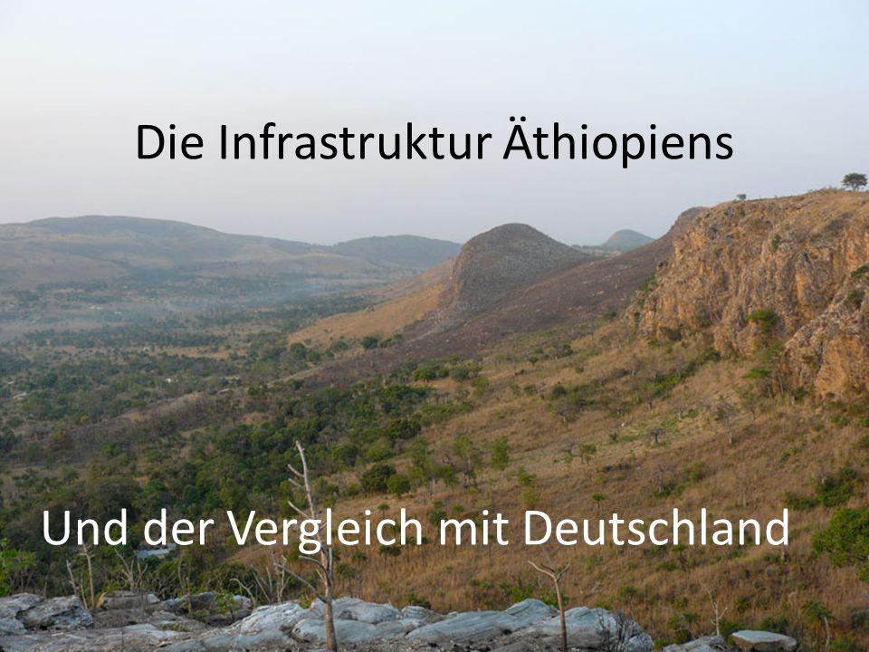 Die Infrastruktur Äthiopiens Und der Vergleich mit Deutschland