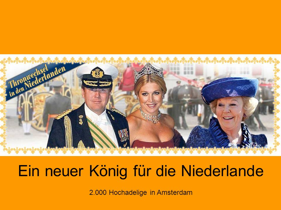 In den Niederlanden hat am 30.