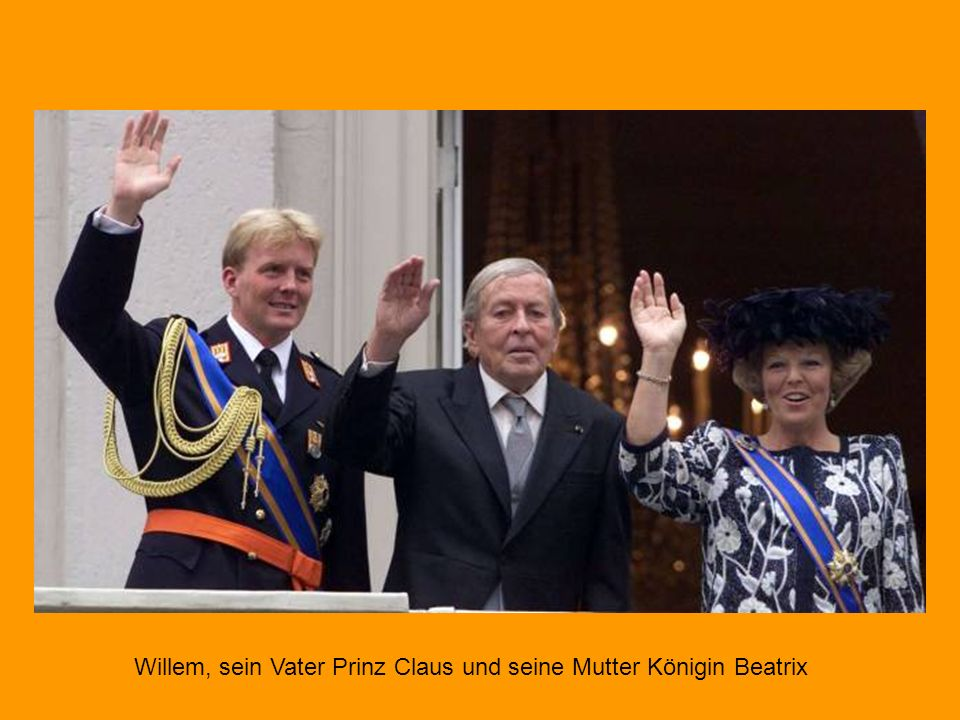 Willem, sein Vater Prinz Claus und seine Mutter Königin Beatrix