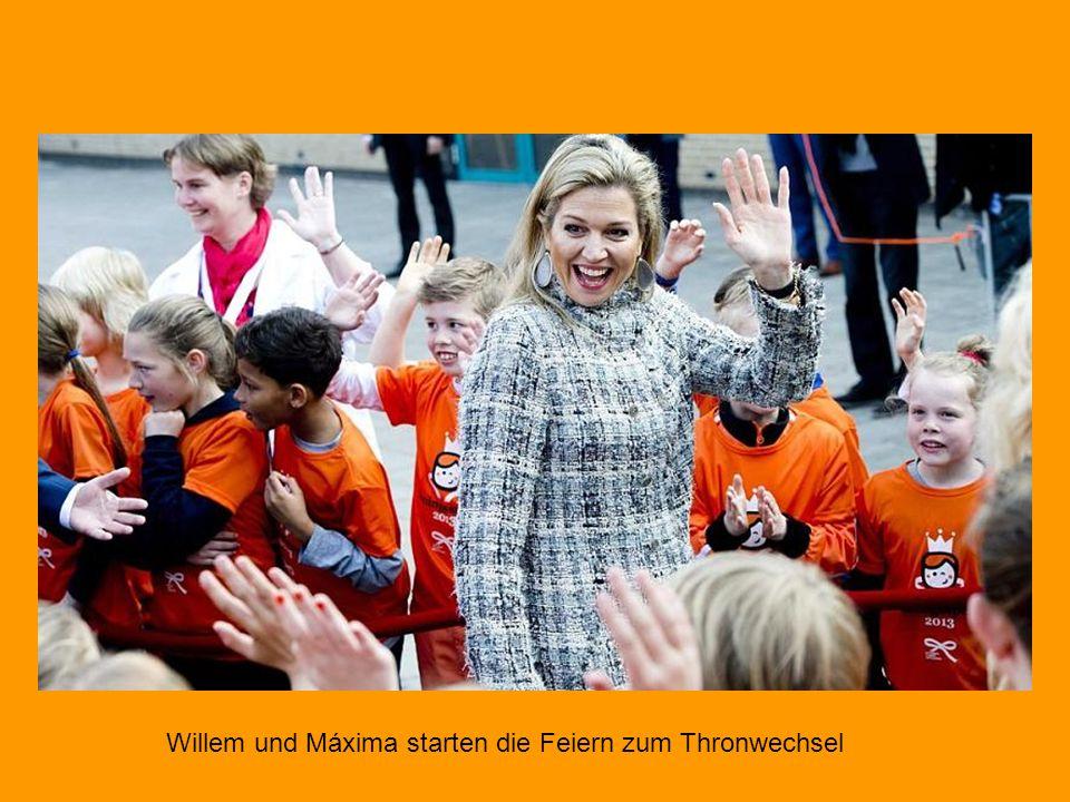 In den Niederlanden haben die Feiern für den Thronwechsel am 30. April begonnen: Am Freitag eröffneten Prinz Willem-Alexander und seine Frau Máxima in