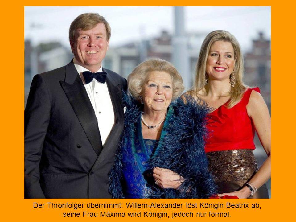 Beatrix, hast Du auch schon das 'Königslied' gehört? Konsternierte Gesichter bei der niederländischen Königin, Prinzessin Maxima und ein breites Grins